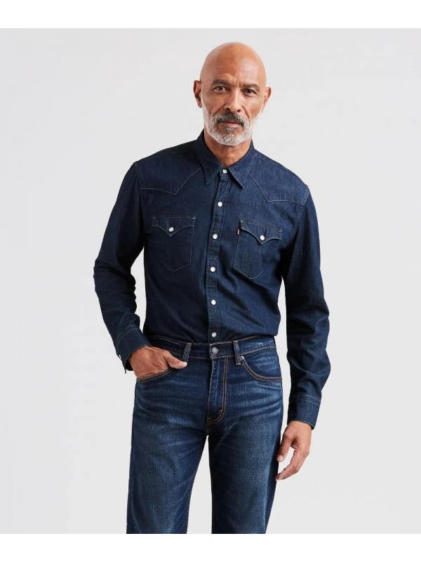 Рубашка джинсовая Levis Mens Barstow Western Shirt  658160115