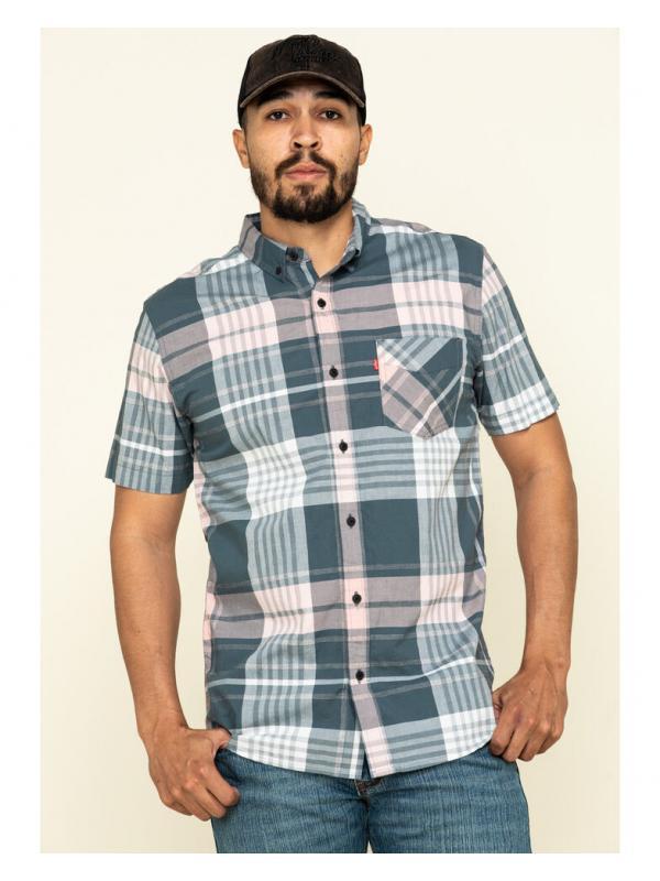 Рубашка Levis Belak Short Sleeve Woven Dark Slate