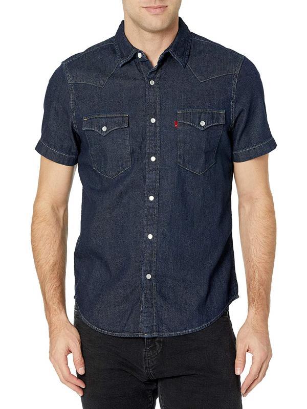 Рубашка джинсовая Levis Men's Short Sleeve Button Up Classic Western Shirt