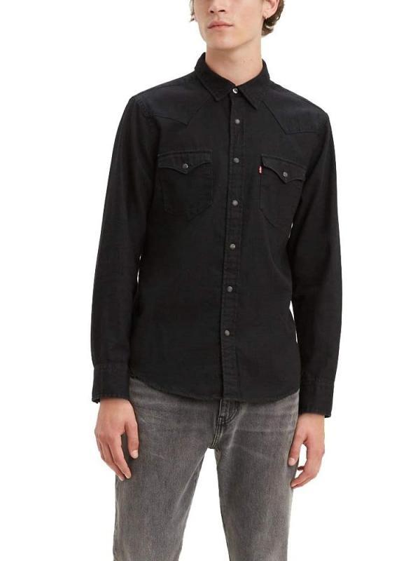 Рубашка джинсовая Levis Men's Classic Western Shirt Black Rinse