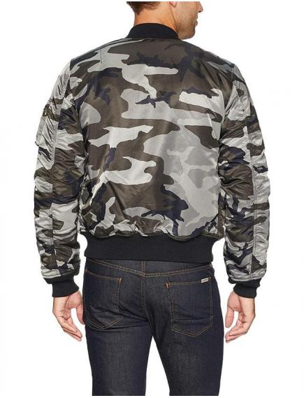 Мужская куртка Alpha Industries MA-1 Slim Fit Tonal Black Camo