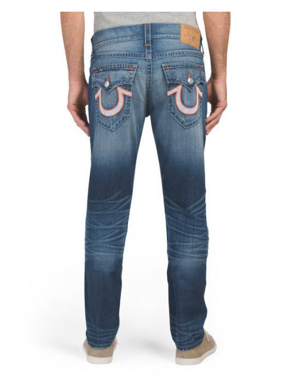Джинсы TRUE RELIGION Mesh Flap Pocket Skinny Jeans
