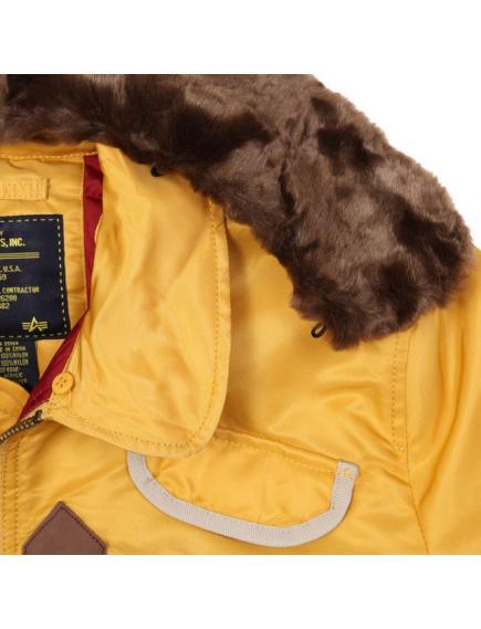 Куртка Alpha Injector Washed Yellow