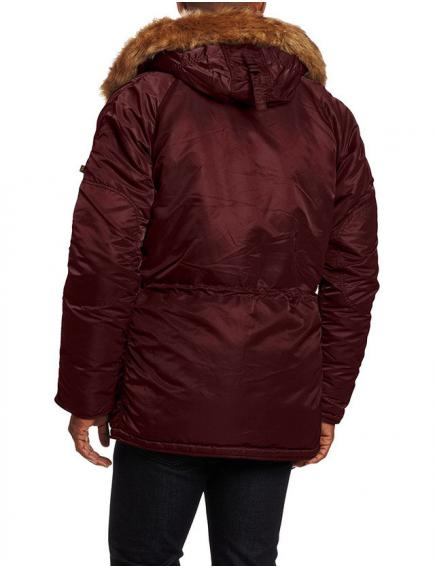 Куртка Alpha Slim Fit N-3B Parka Maroon/Orange