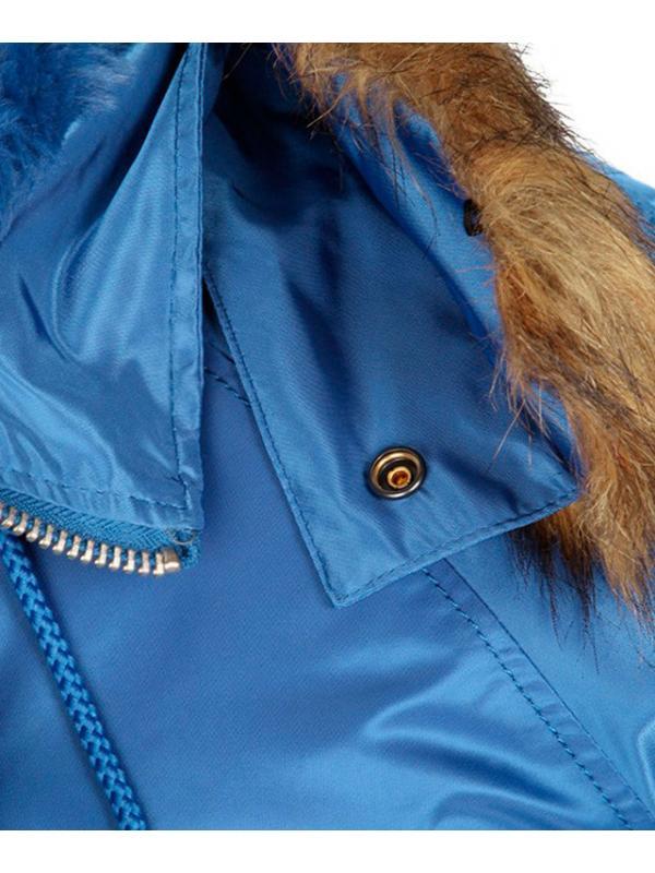 Куртка Alpha Slim Fit N-3B Parka Pacific Blue/Orange